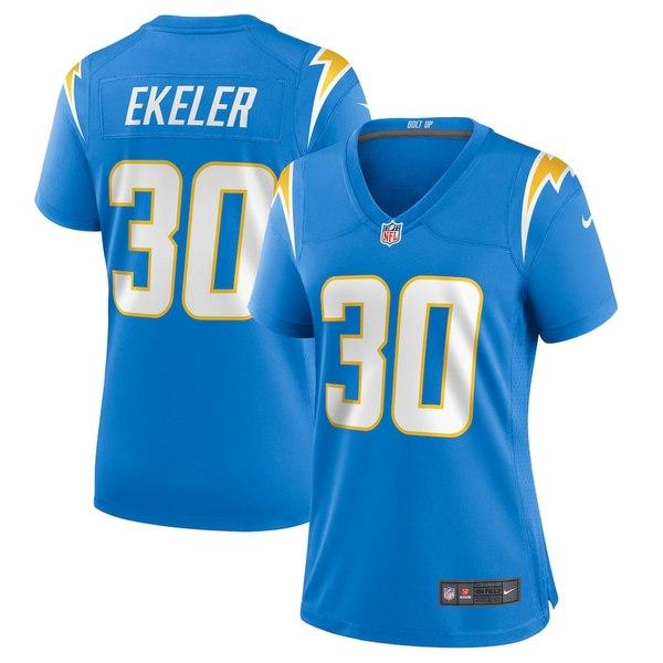 ナイキ レディース シャツ トップス Austin Ekeler Los Angeles Chargers Nike Women's Game Jersey Powder Blue