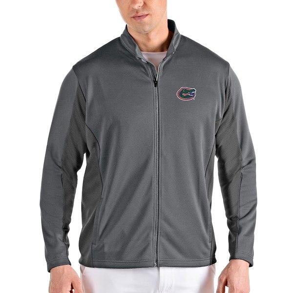 アンティグア メンズ ジャケット&ブルゾン アウター Florida Gators Antigua Passage Full-Zip Jacket Gray/Charcoal