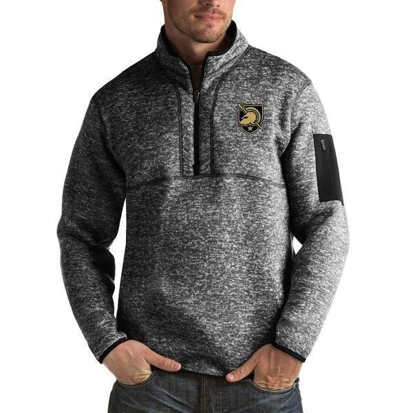 アンティグア メンズ ジャケット&ブルゾン アウター Army Black Knights Antigua Fortune Big & Tall Quarter-Zip Pullover Jacket Black