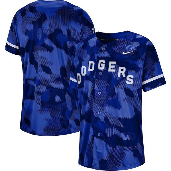 ナイキ メンズ シャツ トップス Los Angeles Dodgers Nike Camo Jersey Royal