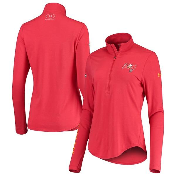 アンダーアーマー レディース ジャケット&ブルゾン アウター Tampa Bay Buccaneers Under Armour Women's Combine Authentic Favorites Half-Zip Jacket Red