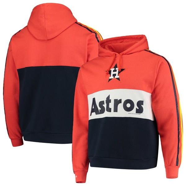 ミッチェル&ネス メンズ パーカー・スウェットシャツ アウター Houston Astros Mitchell & Ness Leading Scorer Fleece Pullover Hoodie Orange/Navy