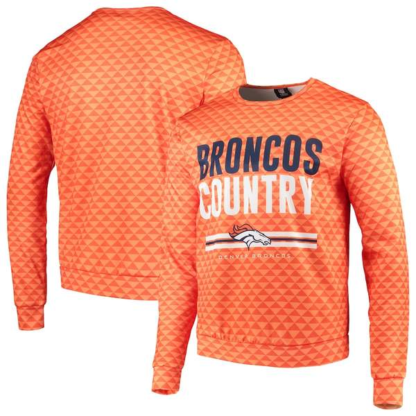 フォコ メンズ パーカー・スウェットシャツ アウター Denver Broncos Slogan Pullover Sweatshirt Orange