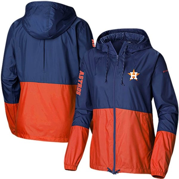 コロンビア レディース ジャケット&ブルゾン アウター Houston Astros Columbia Women's Flash Forward Windbreaker Full-Zip Jacket Navy