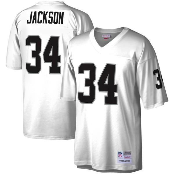 ミッチェル&ネス メンズ シャツ トップス Bo Jackson Las Vegas Raiders Mitchell & Ness Legacy Replica Jersey White