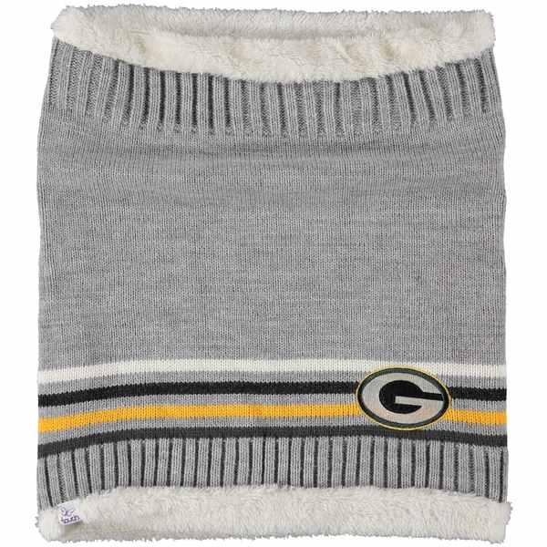 カールバンクス レディース マフラー・ストール・スカーフ アクセサリー Green Bay Packers G-III Sports by Carl Banks Women's Warm Up Striped Tube Scarf Unknown