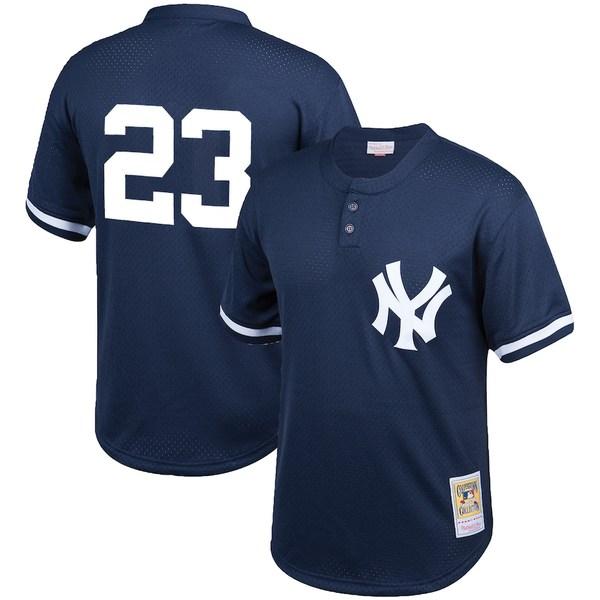 ミッチェル&ネス メンズ シャツ トップス Don Mattingly New York Yankees Mitchell & Ness Cooperstown Collection Big & Tall Mesh Batting Practice Jersey Navy