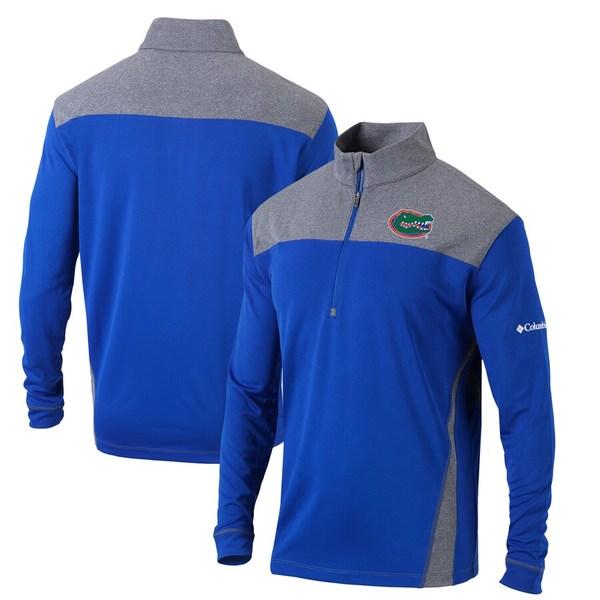 コロンビア メンズ ジャケット&ブルゾン アウター Florida Gators Columbia Omni-Wick Standard Quarter-Zip Pullover Jacket Royal