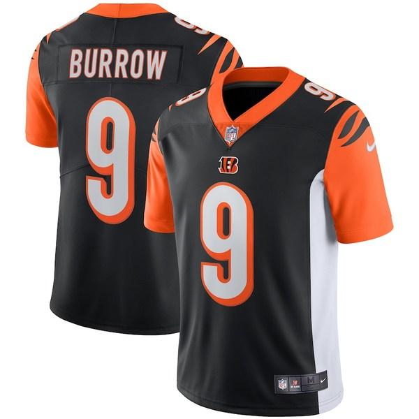 ナイキ メンズ シャツ トップス Joe Burrow Cincinnati Bengals Nike Vapor Limited Jersey Black