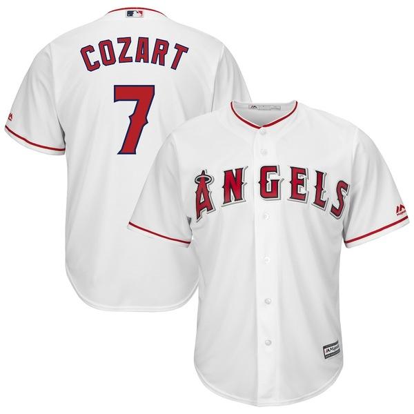 マジェスティック メンズ シャツ トップス Zack Cozart Los Angeles Angels Majestic Home Cool Base Player Jersey White