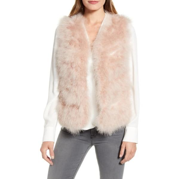 ラフィレンティーナ レディース ジャケット&ブルゾン アウター Feather Vest Blush