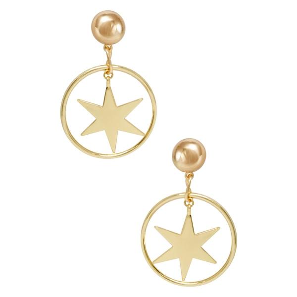 エティカ レディース ピアス&イヤリング アクセサリー Statement Star Earrings Gold