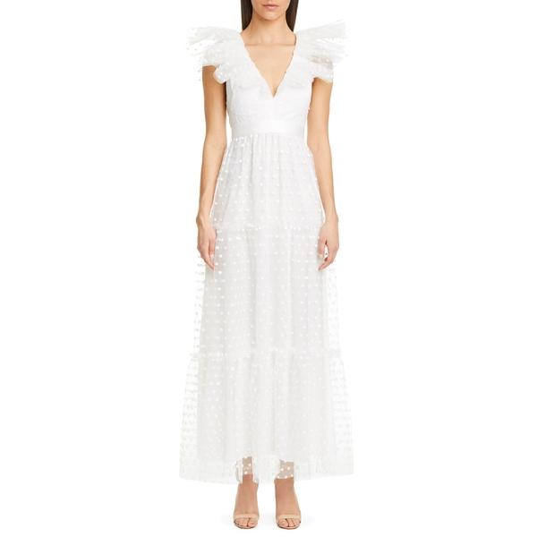 フィロソフィーデロレンゾセラフィーニ レディース ワンピース トップス Swiss Dot Tulle Gown White