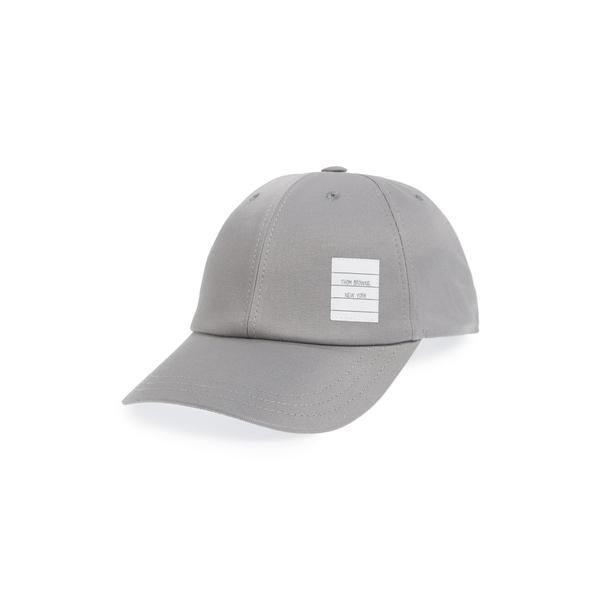 トムブラウン メンズ 帽子 アクセサリー Twill Baseball Cap Med Grey