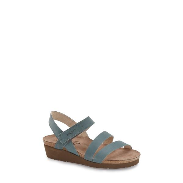ナオト レディース サンダル シューズ 'Kayla' Sandal Sea Green Leather