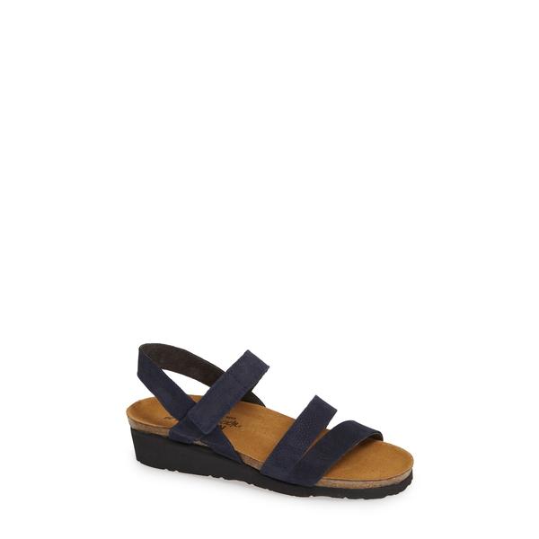 ナオト レディース サンダル シューズ 'Kayla' Sandal Navy Nubuck Leather