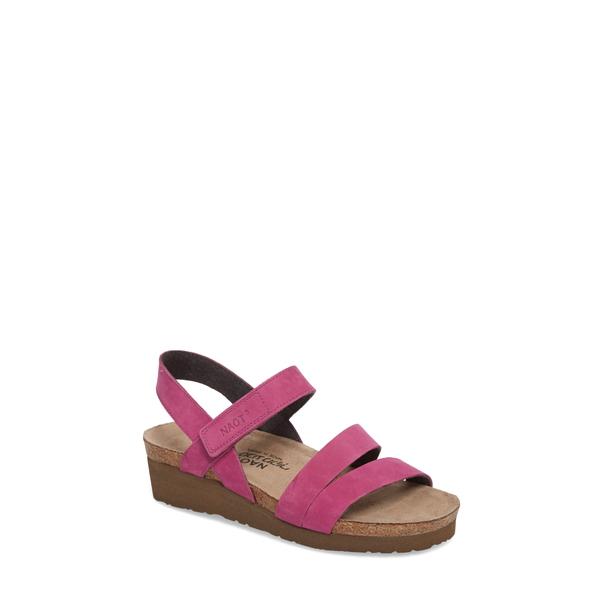 ナオト レディース サンダル シューズ 'Kayla' Sandal Pink Plum Nubuck