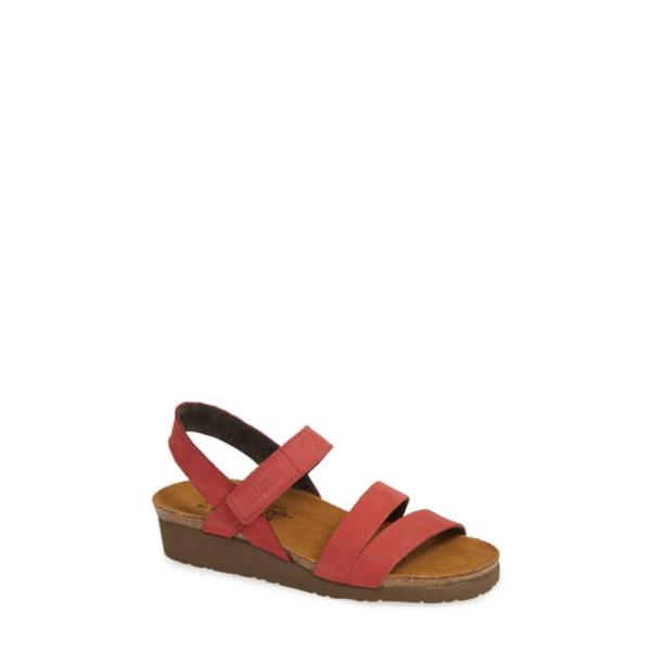 ナオト レディース サンダル シューズ 'Kayla' Sandal Brick Red Nubuck Leather