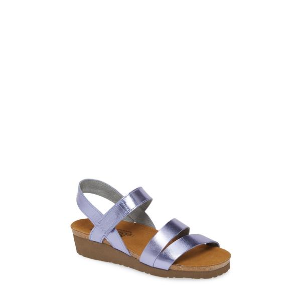 ナオト レディース サンダル シューズ 'Kayla' Sandal Purple Mirror Leather