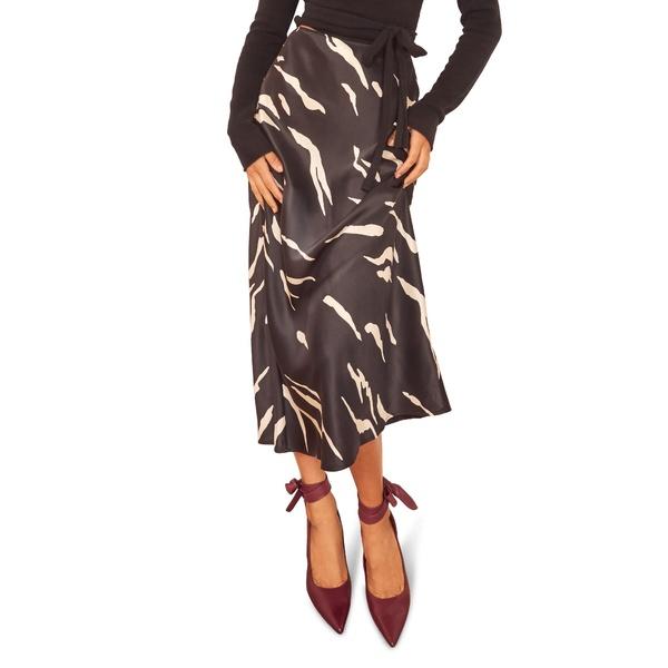 リフォメーション レディース スカート ボトムス Pratt Silk Midi Skirt Mustang