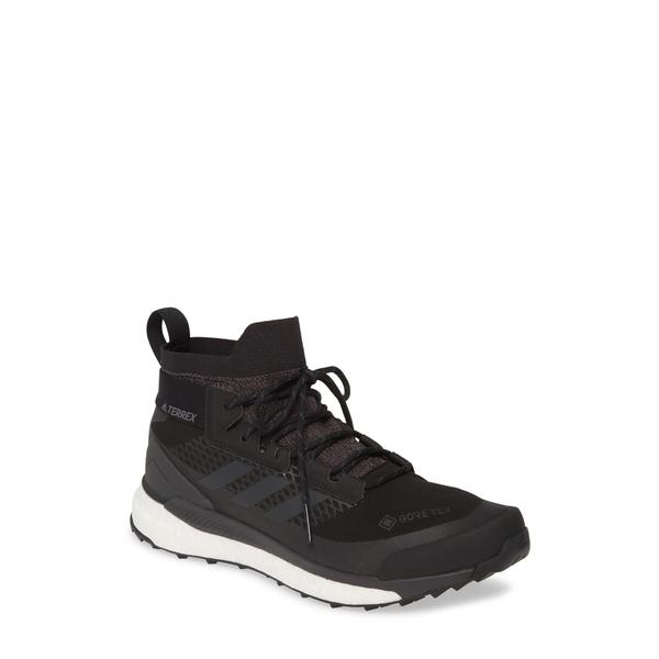 アディダス メンズ ブーツ&レインブーツ シューズ Terrex Free Hiker Gore-Tex ョ Waterproof Hiking Boot Black/ Grey/ Active Orange