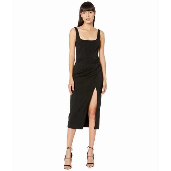 クシュニーエオクス レディース ワンピース トップス Square Neck Sleeveless Pencil Dress Black