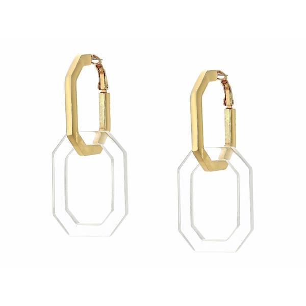 オスカー デ ラ レンタ レディース ピアス&イヤリング アクセサリー Elongated Octagon Link P Earrings Clear Quartz