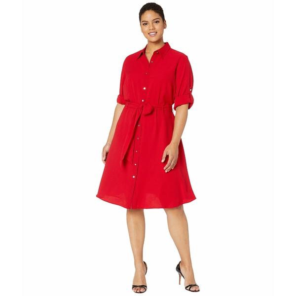 ラルフローレン レディース ワンピース トップス Plus Size Fit-and-Flare Shirtdress Lipstick Red