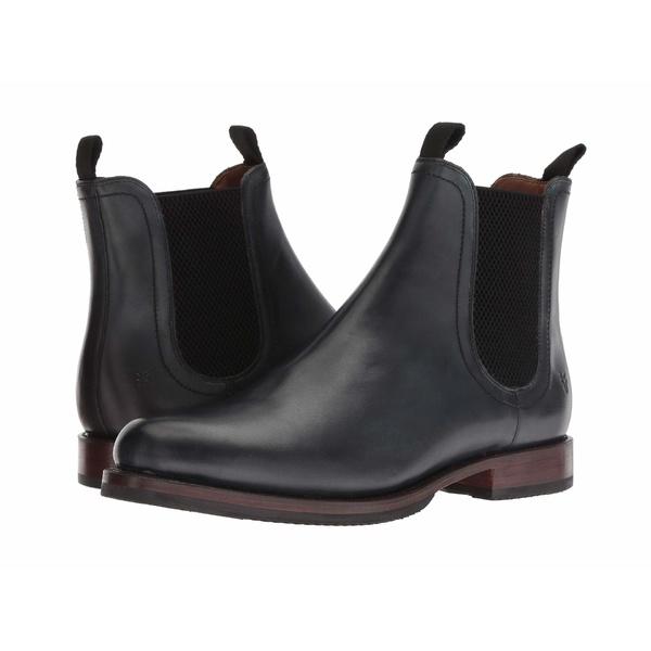 フライ メンズ ブーツ&レインブーツ シューズ Sawyer Chelsea Black Dip-Dye Leather