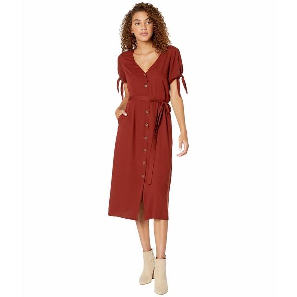 サンクチュアリー レディース ワンピース トップス Can't Get Enough Midi Dress Dark Carnelian