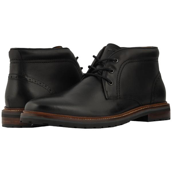 フローシャイム メンズ ブーツ&レインブーツ シューズ Estabrook Chukka Boot Black Smooth