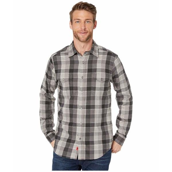 マウンテンカーキス メンズ シャツ トップス Pearl Street Flannel Shirt Black