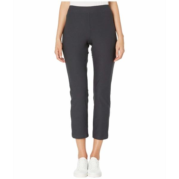 エイリーンフィッシャー レディース カジュアルパンツ ボトムス Washable Stretch Crepe Slim Ankle Pants w/ Side Zipper Charcoal