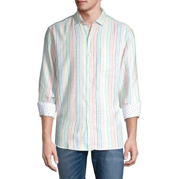 トッミーバハマ メンズ シャツ トップス Jaipur Striped Long-Sleeve Shirt Continental