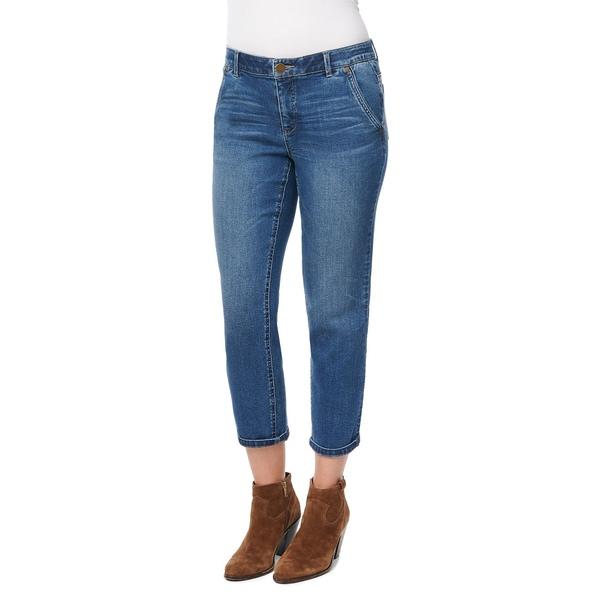 デモクラシー レディース デニムパンツ ボトムス Cropped Straight-Leg Jeans Blue