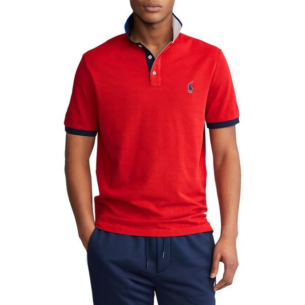 ラルフローレン メンズ シャツ トップス Classic Fit Mesh Polo Shirt Red