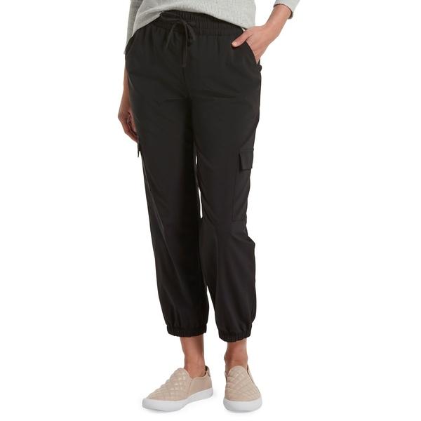 ヒュー レディース カジュアルパンツ ボトムス Travel Utility High-Waist Cropped Pants Black
