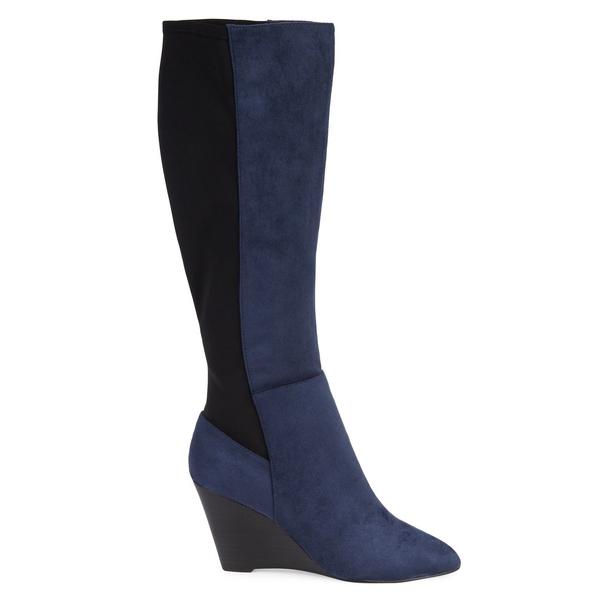 チャールズ・デイビッド レディース ブーツ&レインブーツ シューズ Energy Colorblock Knee-High Boots Navy