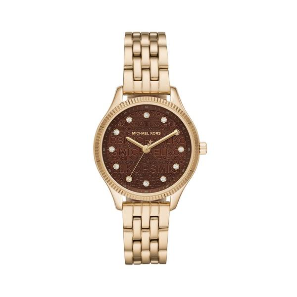 マイケルコース レディース 腕時計 アクセサリー Lexington Three-Hand Goldtone Stainless Steel Watch Gold