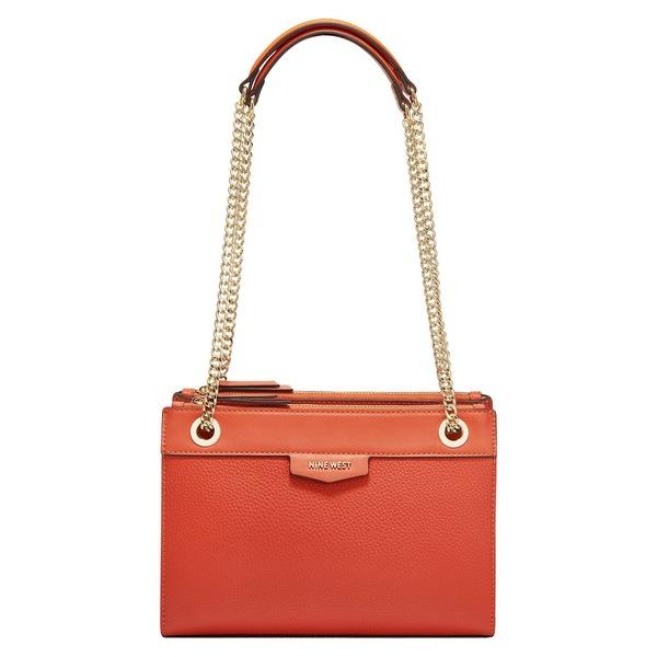 ナインウェスト レディース ショルダーバッグ バッグ Cara Faux Leather Shoulder Bag Orange