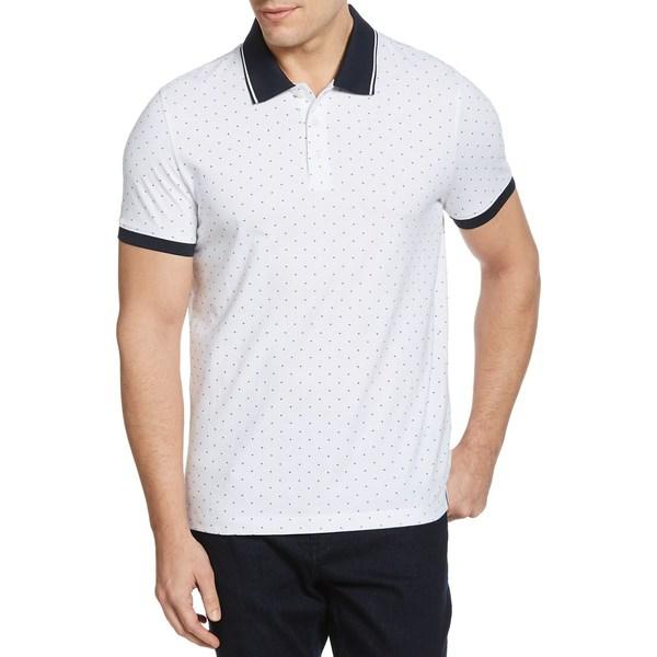 ペリーエリス メンズ シャツ トップス Arrow Print Short-Sleeve Polo Shirt Bright White
