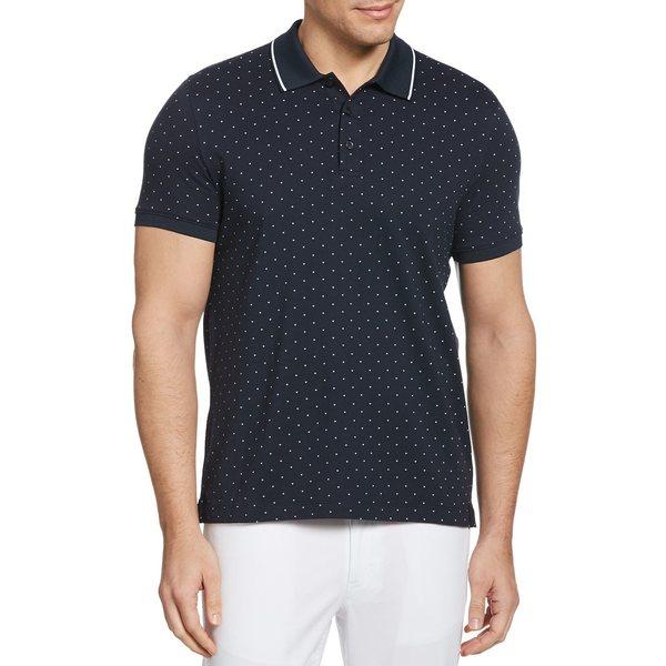 ペリーエリス メンズ シャツ トップス Arrow Print Short-Sleeve Polo Shirt Dark Sapphire