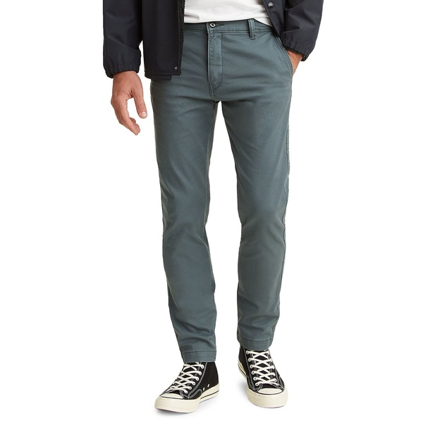 リーバイス メンズ カジュアルパンツ ボトムス Tapered-Leg Stretch-Cotton Chino Pants Dark Slate