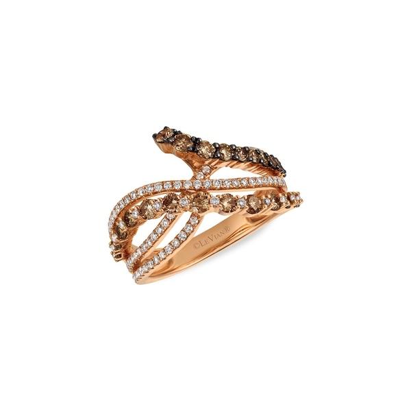 ルヴァン レディース リング アクセサリー Chocolate 14K Strawberry Gold®, 1.36 TCW Chocolate Diamonds® & Vanilla Diamonds® Ring Rose Gold