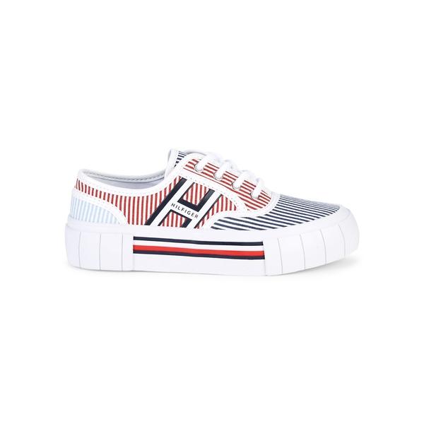 トミー ヒルフィガー レディース スニーカー シューズ Striped Logo Sneakers Blue Multi