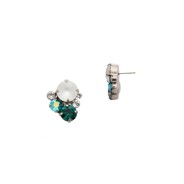 ソレーリ レディース ピアス&イヤリング アクセサリー Crystal Assorted Rounds Post Earrings Multi