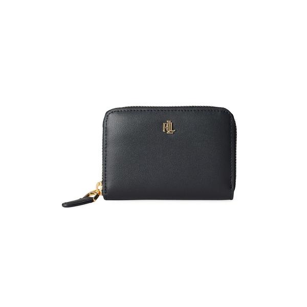 ラルフローレン レディース ハンドバッグ バッグ Textured Leather Zip Wallet Black