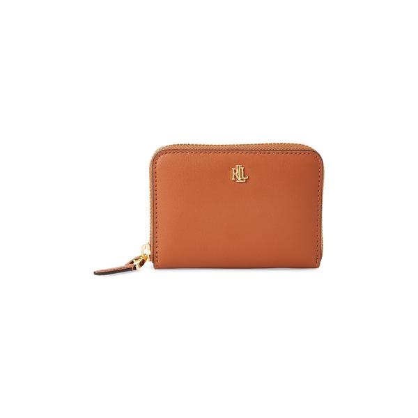ラルフローレン レディース ハンドバッグ バッグ Textured Leather Zip Wallet Tan