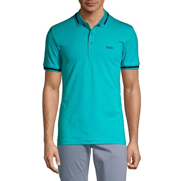 ボス メンズ シャツ トップス Sporty Polo Tee Turquoise