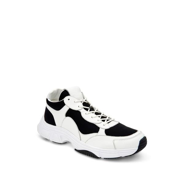 カルバンクライン メンズ スニーカー シューズ Daxton Colorblock Chunky Sneakers Black White